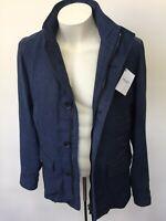 Hackett London linen field jacket / blazer  / size M Blue   Hackett Mayfair