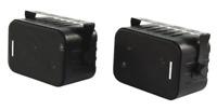 Mini 3- Wege Lautsprecher, Paar, schwarz, 2x60W, 80Hz - 20kHz, 8 Ohm