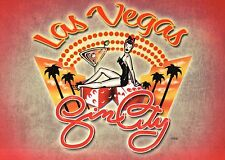 Lady Luck Las Vegas, Sin City, Dice Cocktail Glass Palm Trees, Nevada - Postcard