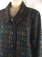 Christopher & Banks Blazer Coat Jacket Women's Size M Colorful Circles