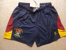 Bishop's Stortford COLLEGE Ragazza Pantaloncini Blu Borgogna Sport Squadra Kit Taglia 10