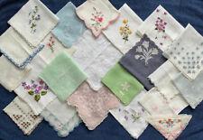 New listing Vintage Lot 22 Ladies Floral Embroidered Hankies Handkerchief