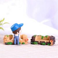 1PC Wooden Stool Furniture Fairy Garden Crafts Landscape Toys Courtyard Decor DS