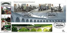 GB 2012 CLASSIC LOCOMOTIVES OF SCOTLAND DAWN COVERS OFFICIAL FDC