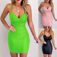 Mini Dress Sleeveless Bodycon Short Bandage Cocktail Club Evening Womens Party