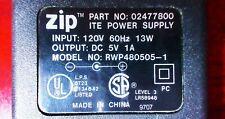 OEM IOMEGA Zip Drive ITE AC Adapter Power Supply 02477800 120V RWP480505-1