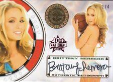 2019 Benchwarmer 40Th National Brittany Herrera Vegas Baby Autograph Card /4
