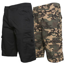 Mens Cargo Cotton Shorts Work Casual Relaxed Fit Pocket