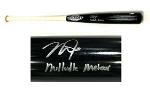 Mike Trout signed Game Model Old Hickory bat Millville Meteor Auto MLB Holo Coa