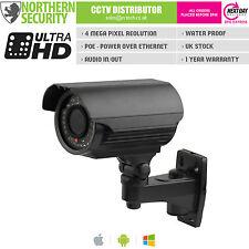 4MP 2.8-12mm 1080P P2P 40M Negro Bala POE ONVIF Cámara exterior IP, CCTV Audio