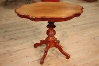 Tavolo da salotto tavolino in legno scolpito mogano mobile stile antico 900 XX