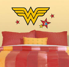 WONDER WOMAN LOGO wall stickers MURAL 9 decals classic superhero DC comics