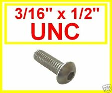 "Stainless Imperial UNC Button Head Allen Bolts (Socket Caps) 3/16 x 1/2"" 10 Pk"