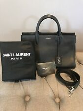 Authentic Saint Laurent Cabas Rive Gauche Tote Bag- YSL