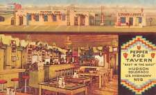 Hudson Colorado Pepper Pod Tavern Multiview Antique Postcard K38136