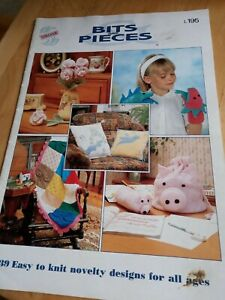 Sirdar Bits and pieces Knitting Pattern Booklet Toy pig pencil case dog coat Etc