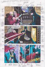 BATMAN SHADOW OF THE BAT ANNUAL 1 PRODUCTION ART SIGNED ADRIENNE ROY COA PG 5