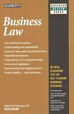 USED (GD) Business Law (Barron's Business Review Series) by Robert W. Emerson J.