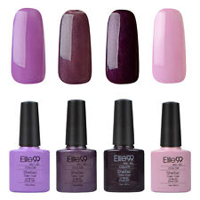 Elite99 4 colori Kit UV LED Gel Polish Gel soak off Smalto Semipermanente unghie