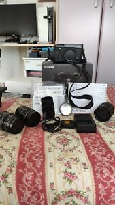 Fujifilm x-e1 Black corpo macchina + obiettivi manuali vintage con adattatori