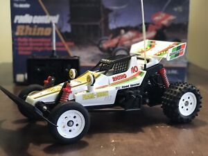 Vintage Rhino Buggy 1/10 Scale RC Car by NIKKO white boxed F10 off-road - Nice!