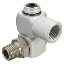 "1/4"" Universal 360 Swivel Air Hose Connector Adapter Flow Aluminum BSP Tool New"