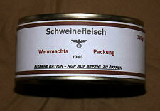 WEHRMACHT RATION -  canned pork 1943 - repro  (d)