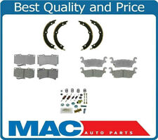 06-10 Hummer H3 FRONT & REAR Ceramic Disc Pads Parking Brake Shoes & Springs 4Pc