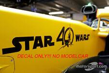 Decal renault rs17 MOVIE Hulkenberg Palmer Monaco GP17 1/43 minichamps spark F1
