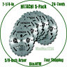HITACHI 7-1/4-in 24-Tooth Carbide Circular Saw Blades (5-Pack)  - NEW & FAST