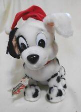 "Xmas New Walt Disney 101 Dalmatians Santa Dog Stuffed Animal 9"" Applause"