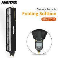 AMBITFUL Speedlite Honeycomb Grid Strip Inner Silver Softbox with Storage Bag