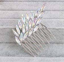 Diamante Peine de Cabello Accesorios nupciales del Rhinestone Boda Tocado De 1 piezas