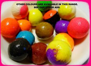 16mm MIXED COLOUR POP-UPS BOILIES. UNFLAVOURED OR FLAVOURED & WITH DIP/GLUG