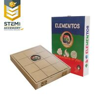 NEW ELEMENTOS classic wooden clam-shell boardgame