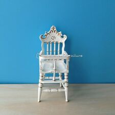1:12 Scale Dollhouse Miniature Furniture Handcrafted Baby High Chair Nursery