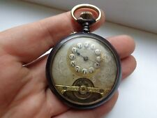 ANTIQUE  8days  HEBDOMAS TYPE POCKET WATCH.MADE FOR GREEK MARKET