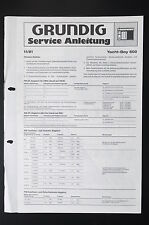 Grundig Yacht-Boy 600 Original Service-Manual/Servizio-Istruzioni/Schema Elettrico! o31