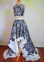NWT TWO PIECE CROP TERANI GOWN HOMECOMING PAGEANT PROM HOCO EVENING DRESS 2