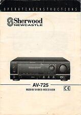SHERWOOD NEWCASTLE - AV-725 - Anleitung Operating Instructions - B3138