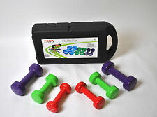 LADIES DUMBBELL SET BODY TONING WEIGHTS WITH CASE 10kg Fitbells 1kg 1.5kg 2.5kg