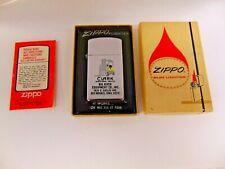 Vintage 1966 Zippo Slim Lighter Big River Equipment Clark Industrial Trucks NIB