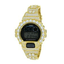 Yellow Gold 2 Tone Solitaire Custom Authentic Casio G-Shock DW- 6900 Men's Watch