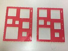 "Lot of 2 Fiskars Square Template Red 8.5"" x 11"" 4852"