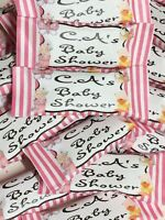 50 x Personalised Sweets BABY SHOWER Party Favour BOY BLUE GIRL PINK OR YELLOW