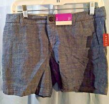 "NEW Merona 100% Cotton Woven Texture Shorts Sz 2 Inseam 5"""