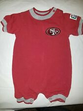 San Francisco 49ers NFL Touchdown club Infant Red grey Romper size 6 9  months a68509f74
