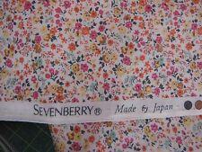 Sevenberry Japanese Floral Fabric.Fat Quarter - Orange/Yellow/Pink. Mini Floral