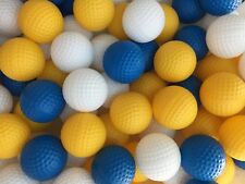 20pcs Hollow Plastic Practice Golf Balls indoor exercise ball safety blow ball