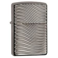 "Zippo ""Waves"" Deep Carved Black Ice Chrome Finish  Lighter, 29234"
